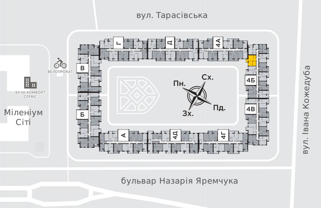 Двухкомнатная квартира 49,9 м.кв.