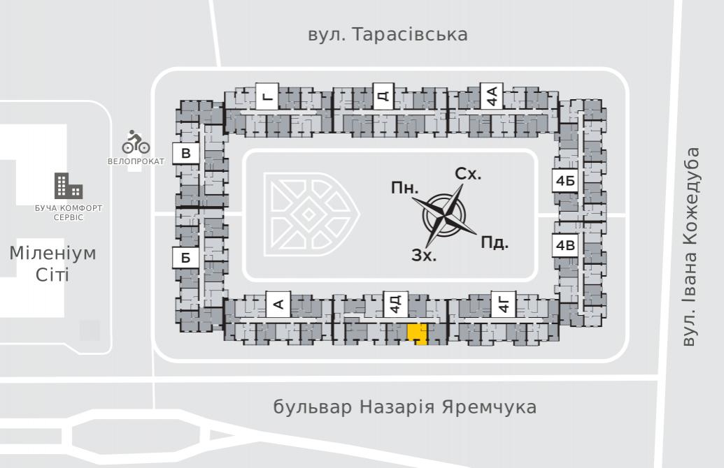Однокомнатная квартира 37,9 м.кв.