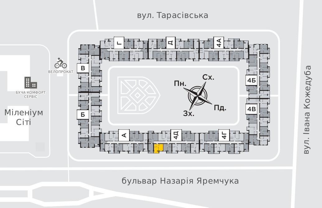 Однокімнатна квартира 39,2 м.кв.