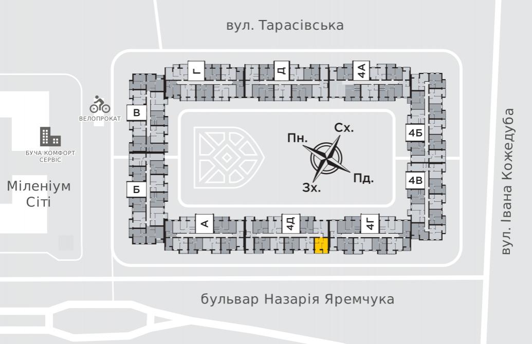 Однокімнатна квартира 38,2 м.кв.