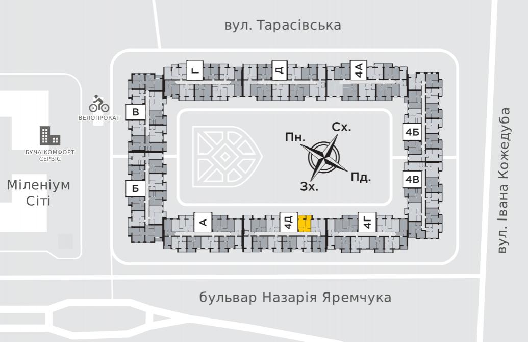 Однокімнатна квартира 39,6 м.кв.