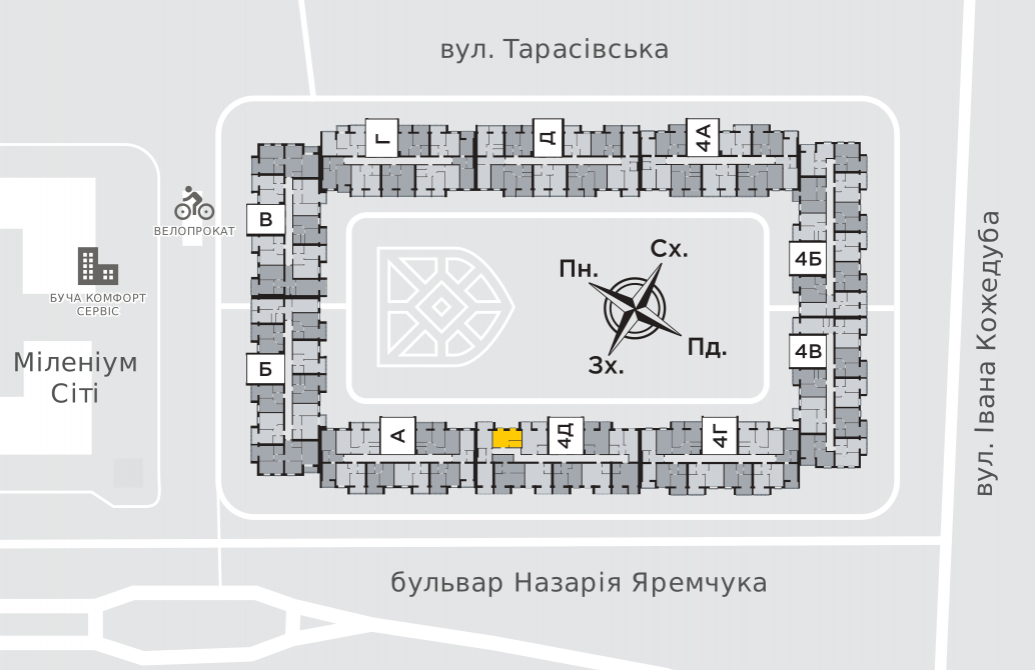 Однокімнатна квартира 26,5 м.кв.