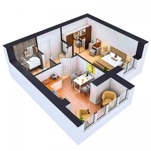 Двокімнатна квартира 39 м.кв