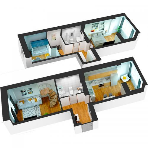 Трикімнатна квартира 83,13 м.кв.