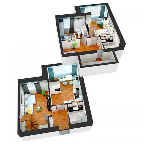 Трикімнатна квартира 84,30 м.кв.