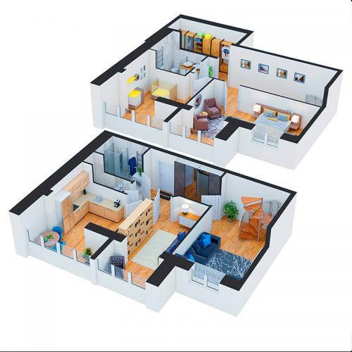Чотирикімнатна квартира 135,30 м.кв.
