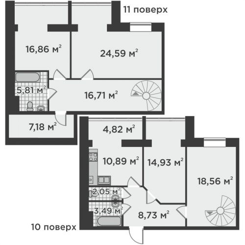 Чотирикімнатна квартира 134,62 м.кв.
