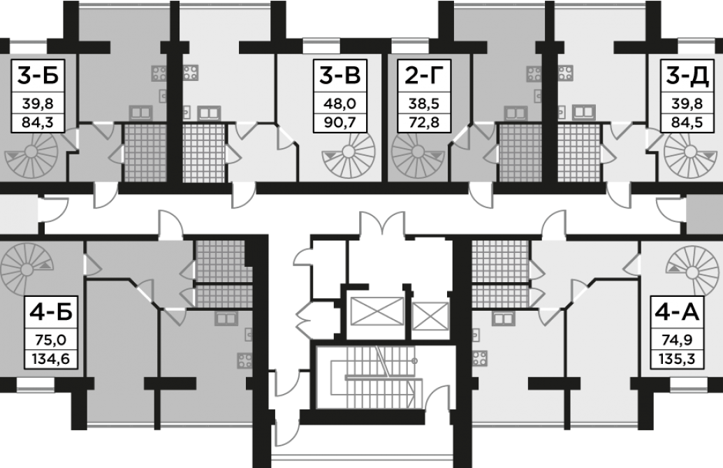 Двокімнатна квартира 72,81 м.кв