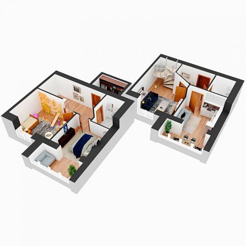 Трикімнатна квартира 91,73 м.кв.