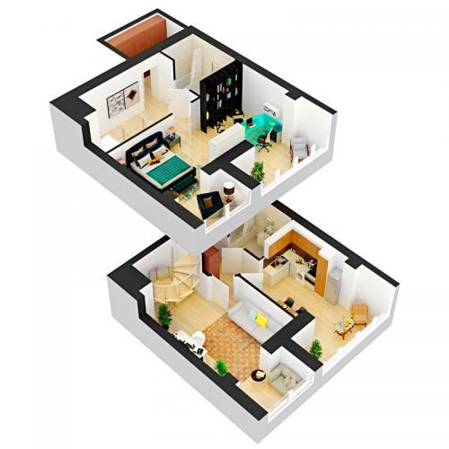 Двокімнатна квартира 85,17 м.кв.