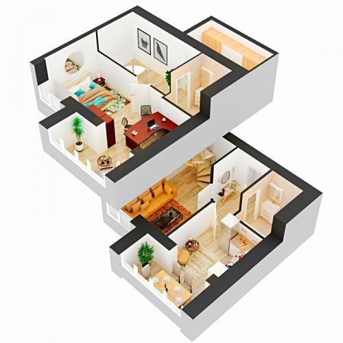 Двокімнатна квартира 78,35 м.кв.