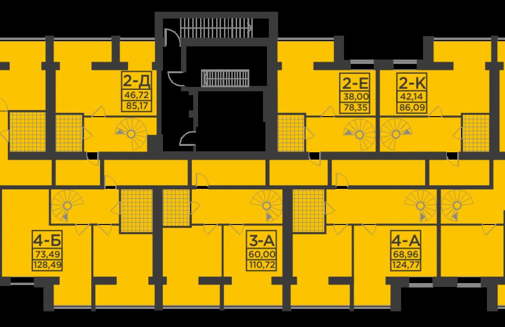 Двокімнатна квартира 77,5 м.кв.