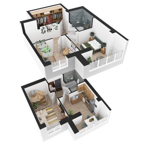 Трикімнатна квартира 83,26 м.кв.