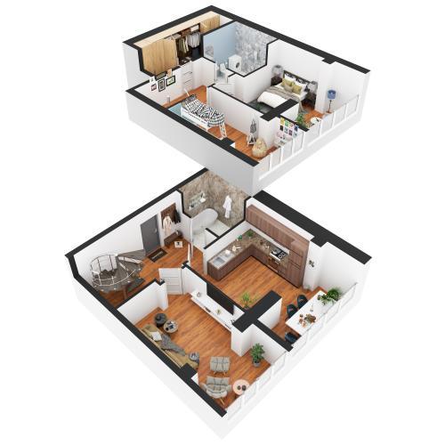 Трикімнатна квартира 136,55 м.кв.