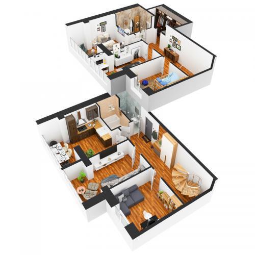 П'ятикімнатна квартира 134,62 м.кв.