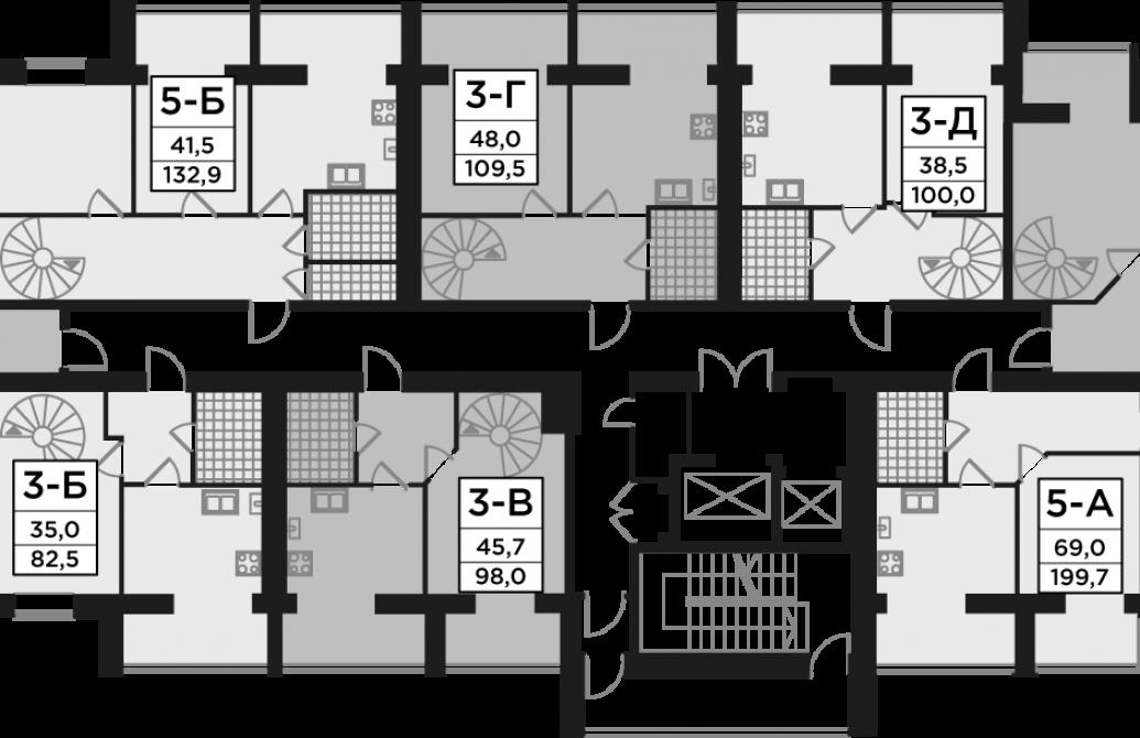 Трикімнатна квартира 81,51 м.кв.