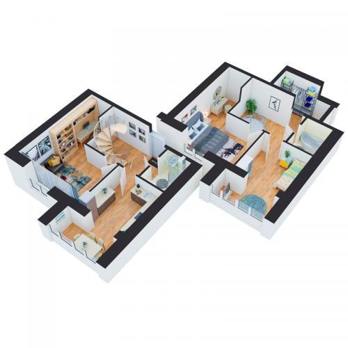 Трикімнатна квартира 101,88 м.кв.