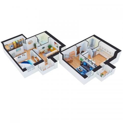 Трикімнатна квартира 108,13 м.кв.