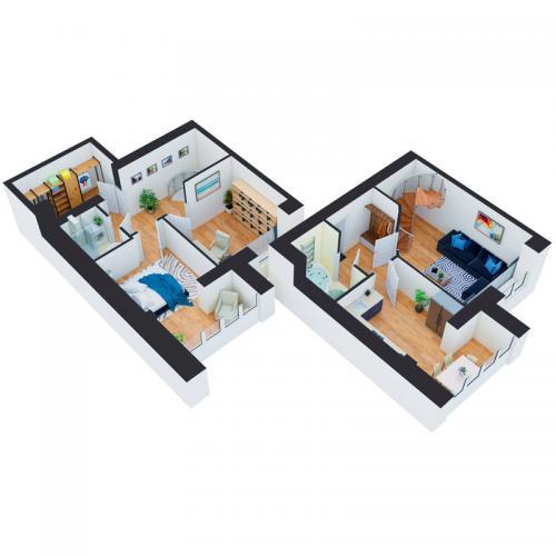 Трикімнатна квартира 87,30 м.кв.
