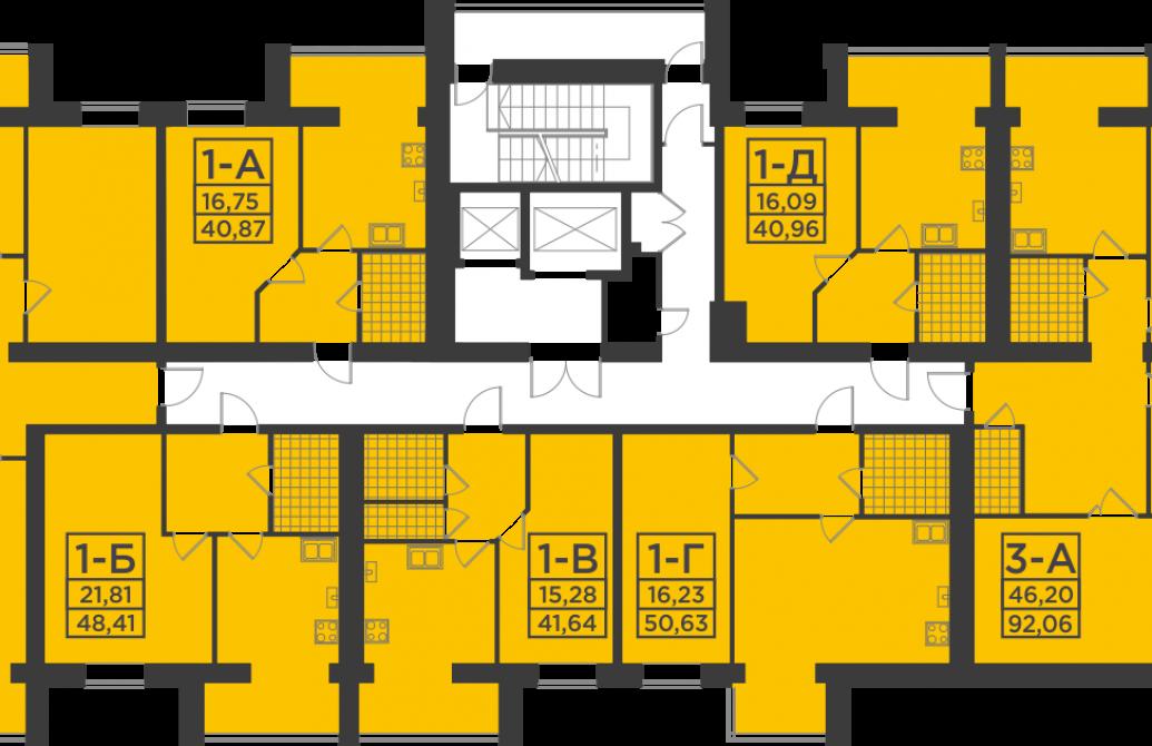 Двокімнатна квартира 79,92 м.кв.